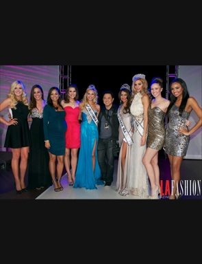 Miss California wearing Shail K Design
