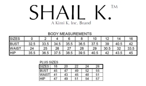 Shail K Size Chart
